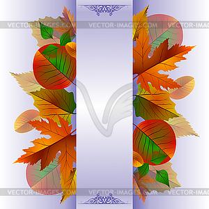 Spitzen Hintergrund mit Herbstlaub - Royalty-Free Clipart
