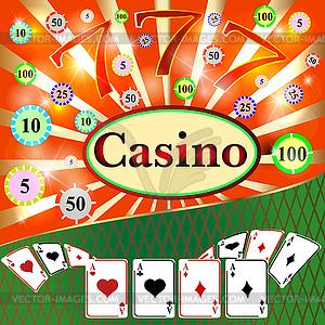 Glücksspiel Hintergrund mit Casino-Elemente - Stock Vektor-Bild