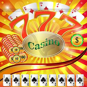 Casino-Glücksspiel - Stock Vektor-Bild