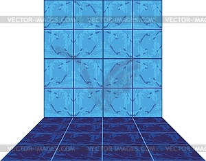 Die keramische Kachel - farbige Vektorgrafik