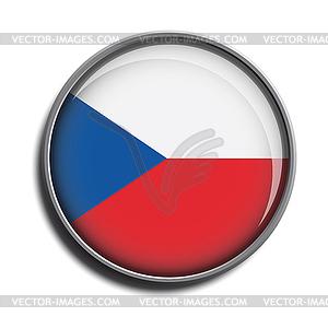Flaggen-Symbol-Web-Schaltfläche czechia - vektorisiertes Clip-Art