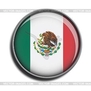 Flaggen-Symbol-Web-Schaltfläche mexiko - Vektor-Clipart / Vektor-Bild