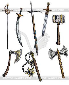 Designious Vektor mittelalterlichen Waffen - Vektorgrafik-Design