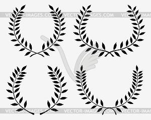 Lorbeerkränze - Vektor Clip Art