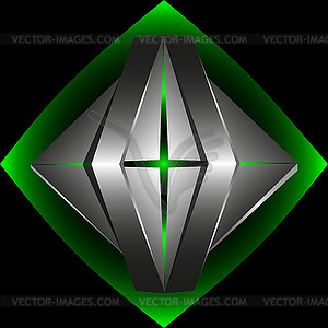 Abstract 3d-Logo-Vorlage - Vektor-Clipart / Vektorgrafik