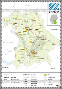 Landkarte von Bayern - Vector-Design