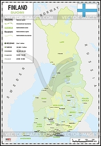 Landkarte von Finnland - Stock-Clipart
