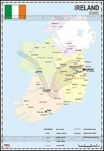 Landkarte von Irland - Vektor-Clipart