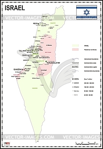 Landkarte von Israel mit Palästina - Vector-Clipart EPS