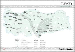 Landkarte der Türkei - Vektor-Bild