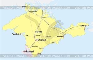 Landkarte von Krim - Vektor-Skizze