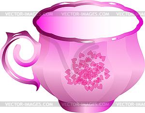 Rose Porzellan Tee Cup - Vector Clip Art