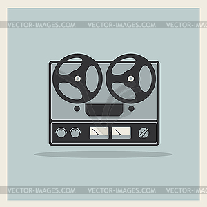 Retro offenen Spulen Tape Deck Stereo-Recorder-Player - Vector-Clipart EPS
