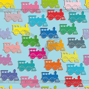 Dampf bunten Lokomotiven. - Vektor Clip Art