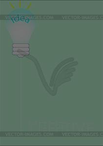 Lampe der Idee - Stock-Clipart