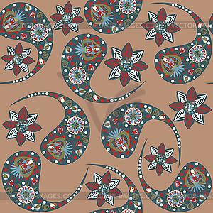 Paisley nahtlose Muster und nahtlose Muster in - Vektorgrafik-Design