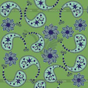 Paisley nahtlose Muster und nahtlose Muster in - vektorisiertes Clip-Art