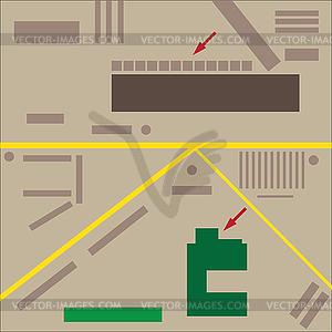 Abstract city map - Vektor Clip Art