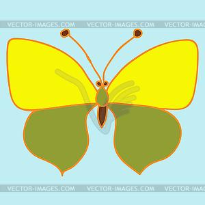 Gelber Schmetterling - Vector-Clipart / Vektor-Bild