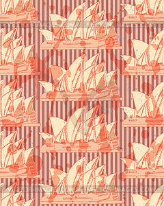 Sketch Sydney Oper, nahtlose Muster - Stock Vektor-Bild