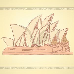 Sketch Sydney Oper, Hintergrund eps 10 - Vektor-Clipart / Vektorgrafik