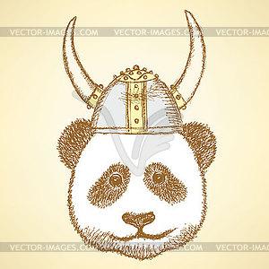 Skizzieren niedlichen Panda - Vektor-Klipart