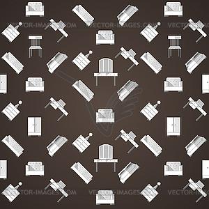 Hintergrund für Möbel - Vektor Clip Art