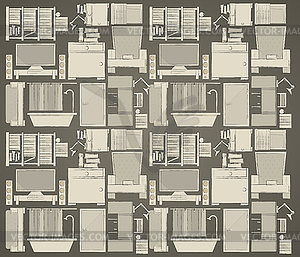 Hintergrund für die Wohnung - Vector-Clipart