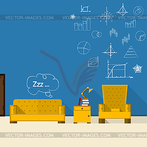 Illustration der Lounge - Vector Clip Art