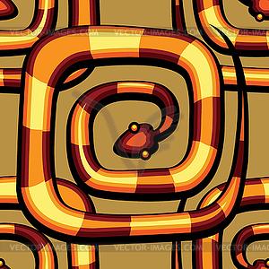 Abstrakte Schlange Muster - Vektor-Clipart / Vektorgrafik
