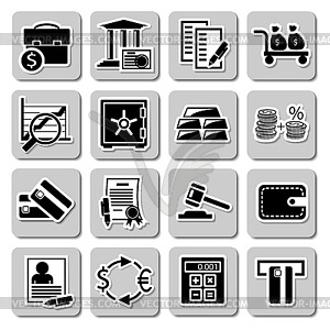 Vektor Reihe von Icons-Banking - Vector-Clipart / Vektor-Bild