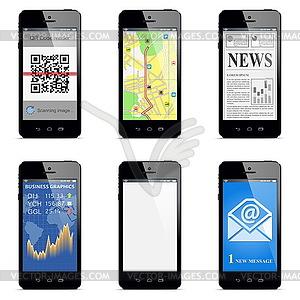 Vektor Smartphone-Konzept - Vector Clip Art