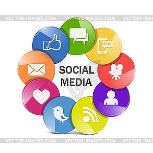 Vektor Social-Media-Konzept - Vector-Illustration