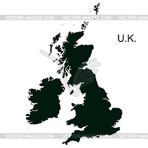 Großbritannien Piktogramm - Stock Vektor-Bild