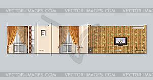 Wohninnen - Vector-Clipart / Vektorgrafik