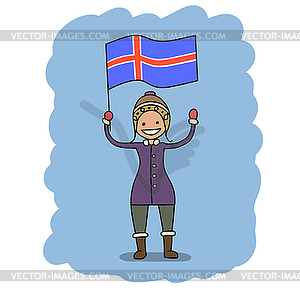 Flagge Island - vektorisierte Grafik