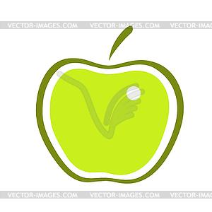 Apfel - Stock Vektor-Bild