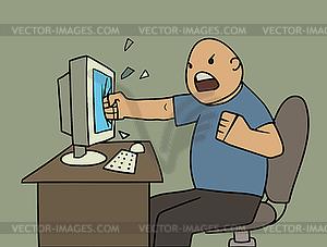Wütend Benutzer - Clipart