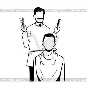 Friseur - vektorisiertes Bild