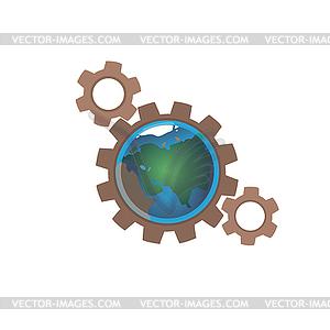 Erde in den Gängen - Vector-Design