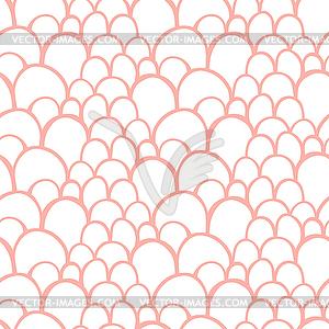 Nahtlose Muster mit abstrakten stilisierte Waage - Vector-Clipart EPS