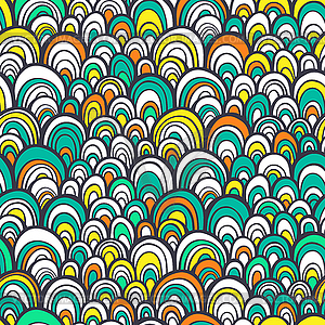 Nahtlose Muster mit abstrakten stilisierte Waage - Stock Vektorgrafik