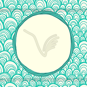 Nahtlose Muster mit abstrakten Maßstab Textur und - Vektorgrafik-Design
