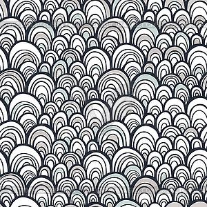 Nahtlose Muster mit abstrakten doodle Skala Textur - vektorisiertes Clip-Art