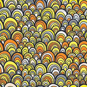 Nahtlose Muster mit abstrakten doodle Skala Textur - vektorisiertes Design