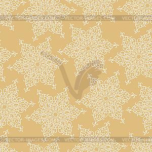 Nahtlose Muster mit dekorativen Schneeflocken - vektorisiertes Clip-Art