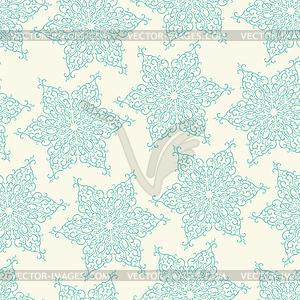Nahtlose Muster mit dekorativen Schneeflocken - vektorisiertes Design