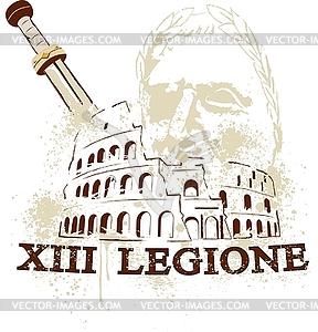 Rom Kolosseum - Vector-Design