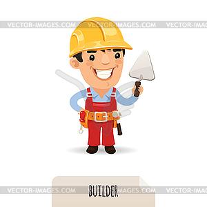 Builder mit Kelle - Vector-Design