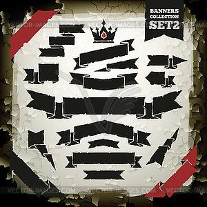 Retro Banner Collection Set 2 auf Grunge - Vektor-Clipart EPS
